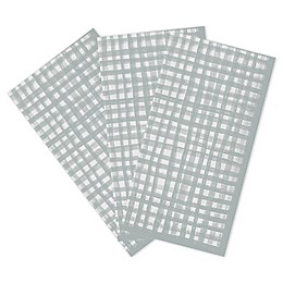 Gentle Square 32-Count Paper Guest Towels in Silver