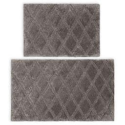 Vera Wang® Tufted Diamond Reversible Bath Rug Set in Coal