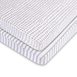 Ely's & Co.® 2-Pack Waterproof Cotton Playard Sheet Set