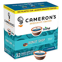 32-Count Cameron's Specialty Donut Shop Coffee Pods for Single Serve Coffee Makers