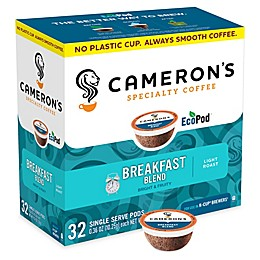 32-Count Cameron's Specialty Breakfast Blend Coffee Pods for Single Serve Coffee Makers