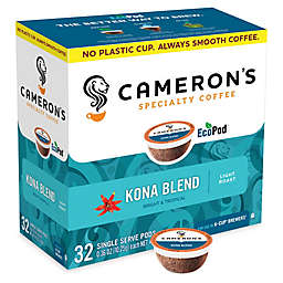 32-Count Cameron's Specialty Gold Roast Kona Coffee Pods for Single Serve Coffee Makers