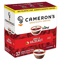 32-Count Cameron's Specialty Vanilla Hazelnut Coffee Pods for Single Serve Coffee Makers