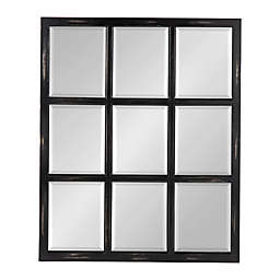 Kate and Laurel™ Hogan 26-Inch x 32-inch 9 Windowpane Wood Wall Mirror