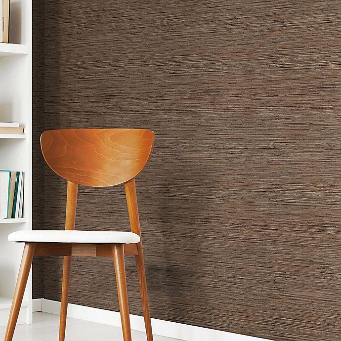 Alternate image 1 for Roommates® Grasscloth Peel & Stick Wallpaper