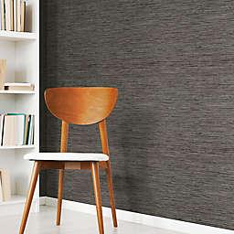 Roommates® Grasscloth Peel & Stick Wallpaper in Dark Grey
