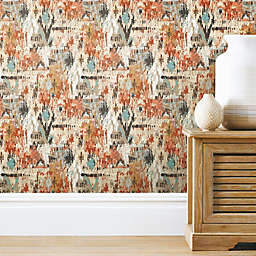 Roommates® Aztec Peel & Stick Wallpaper in Orange