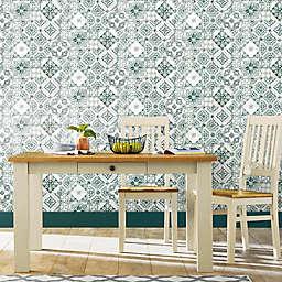 Roommates® Mediterranean Tile Peel & Stick Wallpaper in Teal