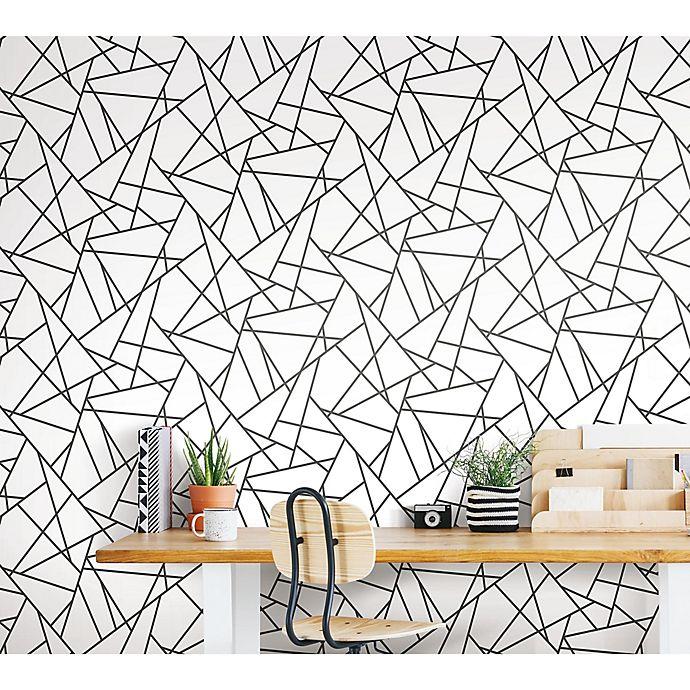 Alternate image 1 for Roommates® Fracture Peel & Stick Wallpaper