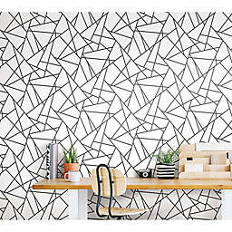 Roommates® Fracture Peel & Stick Wallpaper in Black