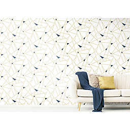 Roommates® Fracture Peel & Stick Wallpaper in Gold
