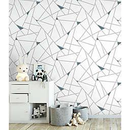 Roommates® Fracture Peel & Stick Wallpaper in Teal