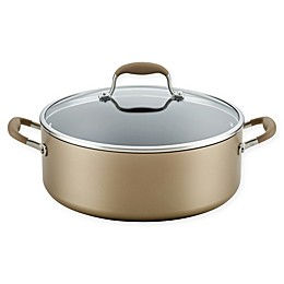 Anolon® Advanced™ Home Nonstick Hard-Anodized 7.5 qt. Covered Wide Stock Pot
