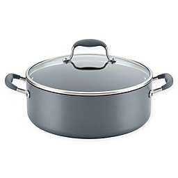 Anolon® Advanced Home Nonstick Hard-Anodized 7.5 qt. Covered Wide Stock Pot in Moonstone