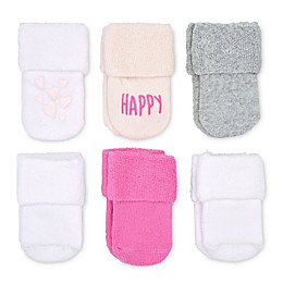 On the Goldbug™ 6-Pack Happy Socks in Pink