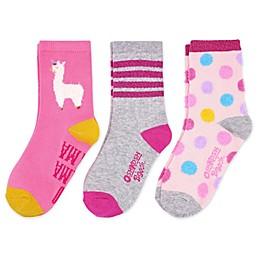 OshKosh B'gosh® 3-Pack Llama Crew Socks