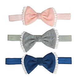Tiny Treasures™ Pompom Bow Headbands (Set of 3)