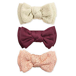 Tiny Treasures™ Double Knit Sparkle Bows (Set of 3)