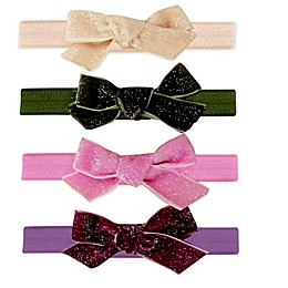 Tiny Treasures 4-Pack Velvet Bow Headbands
