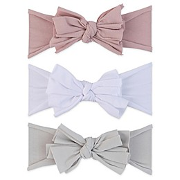 Ely's & Co.® Size 0-12M 3-Pack Bow Headbands in Sage/White/Lavender