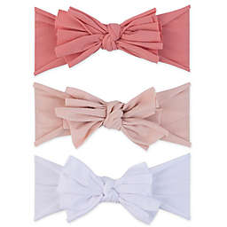Ely's & Co.® Size 0-12M 3-Pack Bow Headbands in Rose/Blush/White