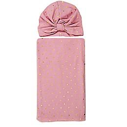 Tiny Treasures 2-Piece Wrap Hat and Blanket Set