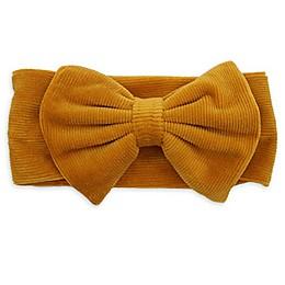 Tiny Treasures Corduroy Bow Headband in Mustard