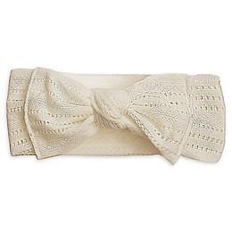 Tiny Treasures Crochet Bow Headband in White