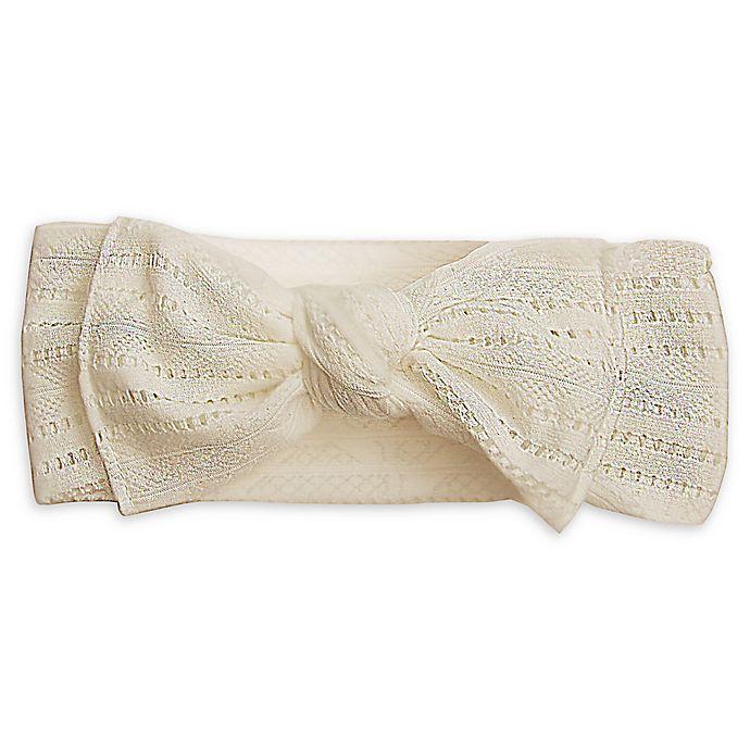 Alternate image 1 for Tiny Treasures Crochet Bow Headband in White