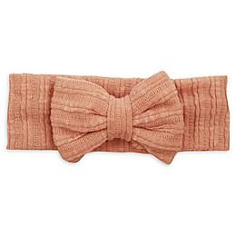Tiny Treasures Knit Bow Headband in Mauve