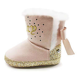 Juicy Couture® Bow Bootie in Peach/Gold