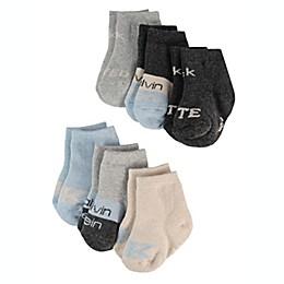 Calvin Klein® 6-Pack Crew Socks in Grey/Blue
