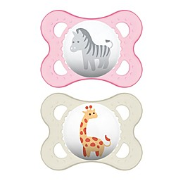 MAM Animals 0-6M 2-Pack Pacifiers in Purple/Grey