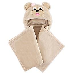 Hudson Baby® Hooded Plush Toddler Blanket