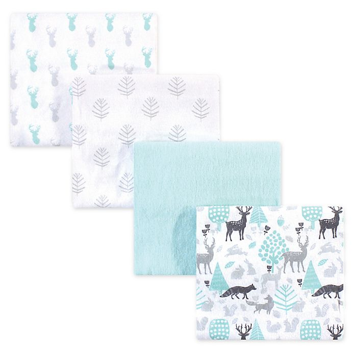 Alternate image 1 for Hudson Baby® 4-Pack Flannel Recieving Blankets
