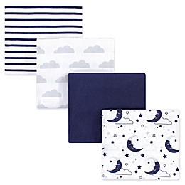 Hudson Baby® 4-Pack Flannel Recieving Blankets