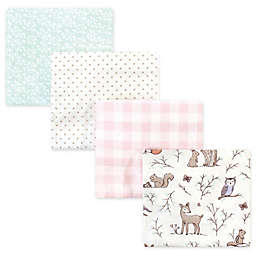 Hudson Baby® 4-Pack Flannel Recieving Blankets in Enchanted Forest