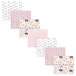 Hudson Baby® 7-Pack Pinecone Flannel Receiving Blankets in Pink