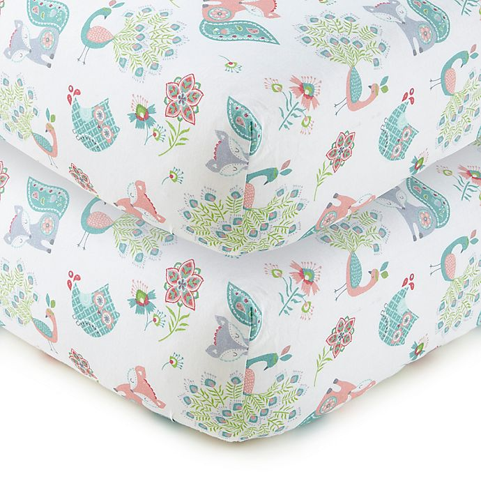 Alternate image 1 for LEVTEX BABY Fiona Cotton Fitted Crib Sheet in White (Set of 2)