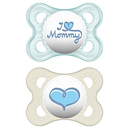 MAM Love & Affection Age 0-6 Months I Love Mommy Pacifier (2-Pack)