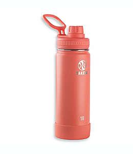 Takeya® Actives Botella aislada de acero inoxidable de 532.32 mL en coral
