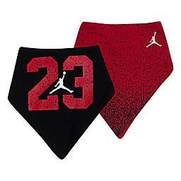 Jordan® 2-Pack Jumpman Bandana Bibs in Red