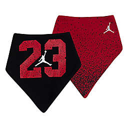 Jordan® 2-Pack Jumpman Bandana Bibs in Red