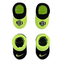 Nike® Size 0-6M 2-Pack Knit Booties in Volt