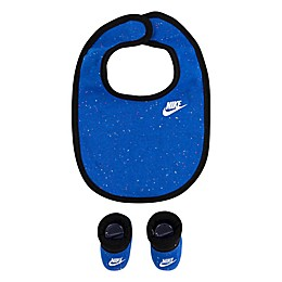 Nike® Size 0-6M 2-Piece Bib and Bootie Set in Blue