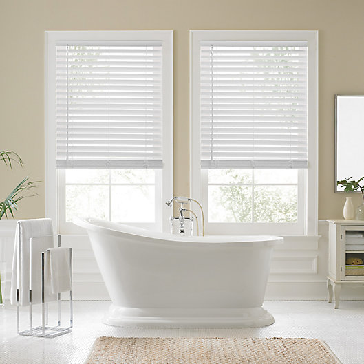 Alternate image 1 for Real Simple® Faux Wood 48-Inch Cordless Shade in White