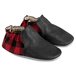 Robeez® Hunter Plaid Soft Sole Shoe in Black/Red