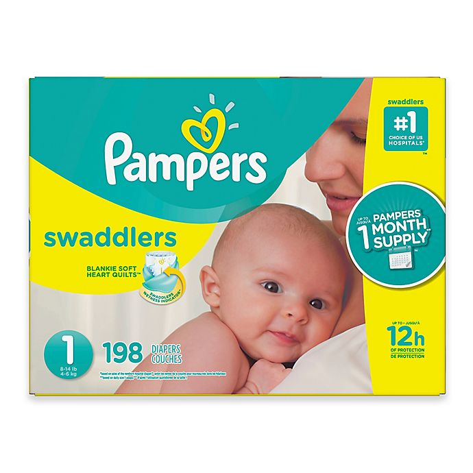 Alternate image 1 for Pampers® Swaddlers™ 198-Count Size 1 Pack Diapers