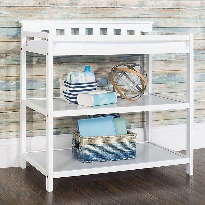 Alternate image 1 for Child Craft™ Forever Eclectic Flat Top Changing Table in Matte White