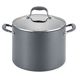 Anolon® Advanced™ Home Hard-Anodized Nonstick 10 qt. Covered Wide Stock Pot